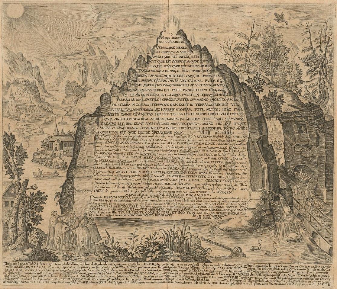 σμαραγδένιοι πίνακες του Θωθ, 12 σμαραγδένιοι πίνακες, ερμής τρισμέγιστος, houghton_typ_620-09-482_heinrich_khunrath_amphitheatrvm_sapientiae_aeternae