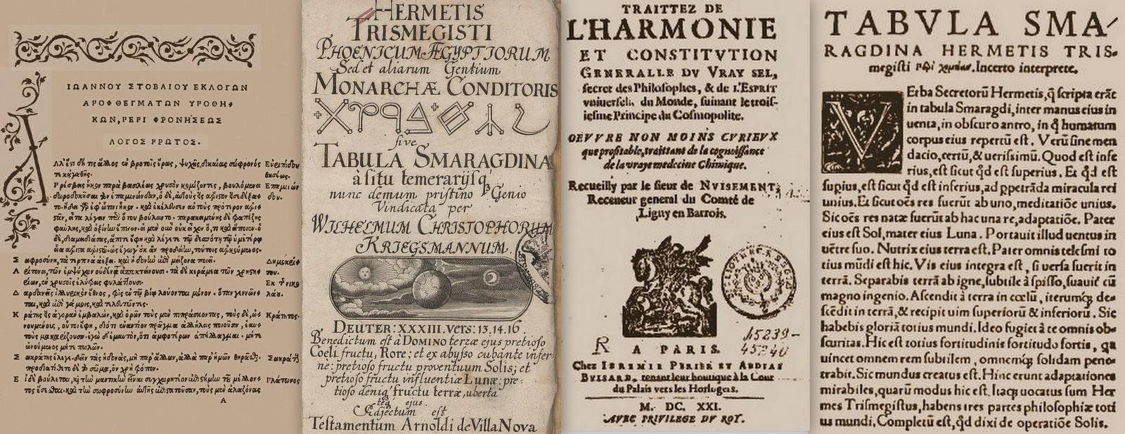 ερμής τρισμέγιστος, 12 σμαραγδένιοι πίνακες, last-century-books-of-smaragdine-tables
