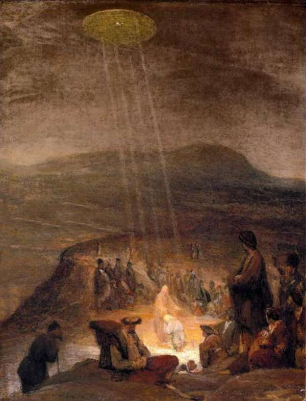 16_imagenes_de_OVNIs_en_la_antiguedad_13, UFO στην βάφτιση του Χριστού