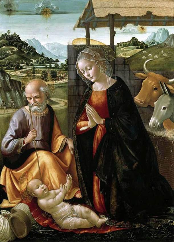 Domenico_ghirlandaio,_adorazione_del_bambino,_cambridge, UFO και το άστρο της γέννησης του Χριστού,