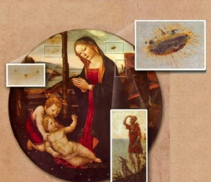 Madonna-Saint-Giovannino-UFO-painting UFO σε πίνακες ζωγραφικής
