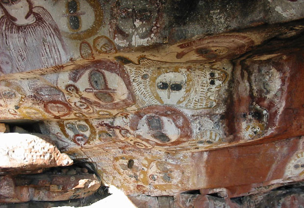 ateiviai-piesiniai, εξωγήινοι και UFO σε βραχογραφίες, Wandjinas, Αυστραλία,