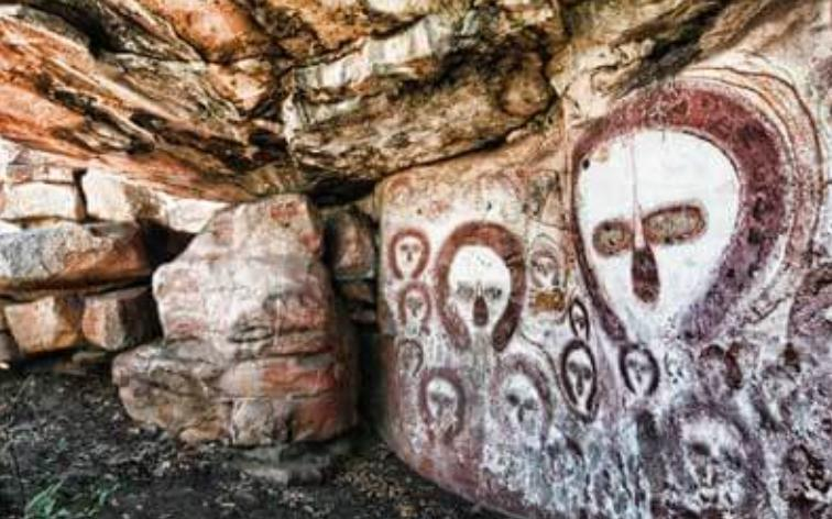wandjina_rock_art, εξωγήινοι και UFO σε βραχογραφίες, Wandjinas, Αυστραλία,