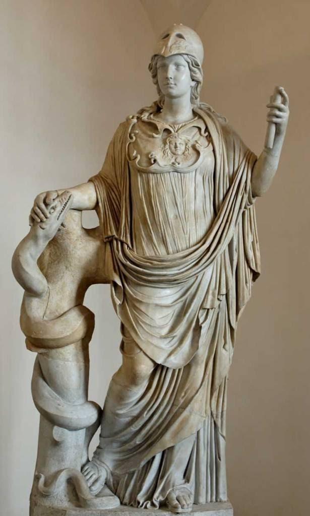 θεά Αθηνά και φίδια
